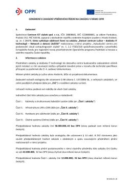Oznámení o zahájení výběrového řízení (PDF)