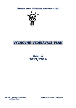 výchovně vzdělávací plán 2013/2014