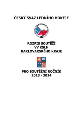 Rozpis soutěží Karlovarský kraj
