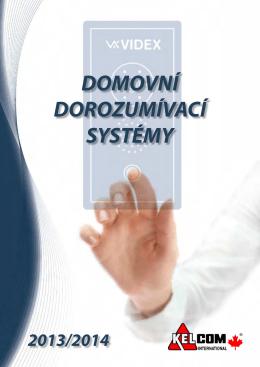 Stáhněte si katalog VIDEX - VIDEX dorozumívací systémy
