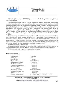 pdf souboru - Hydraulické lisy