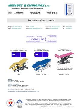 Stoly rehabilitační a masážní Jordan - Mediset