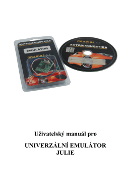 Uživatelský manuál pro UNIVERZÁLNÍ EMULÁTOR