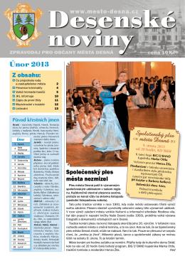 Desenské noviny - únor