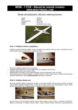 MDM - 1 FOX - Návod ke stavbě modelu