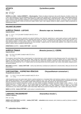 BROKOLICE Brassica oleracea L