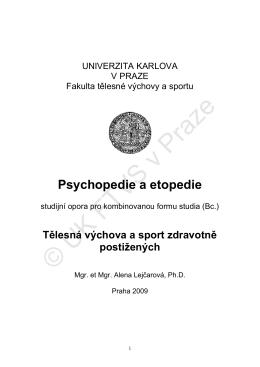 PSYCHOPEDIE A ETOPEDIE