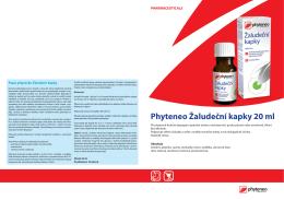 Phyteneo Žaludeční kapky 20 ml PHARMACEUTICALS