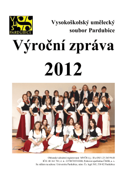 text of the annual report 2012 - VUS Pardubice
