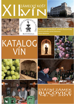 Katalog vín 2011 - Vinaři Bučovice