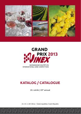 Oficiální katalog GRAND PRIX VINEX 2013 (pdf)