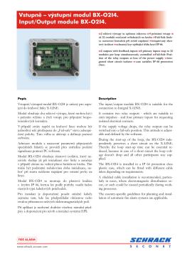 Vstupní/výstupní modul BX-O2I4