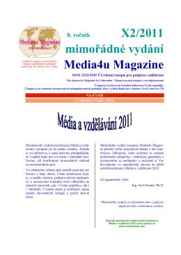 Mimořádné vydání - Média a vzdělávání 2011