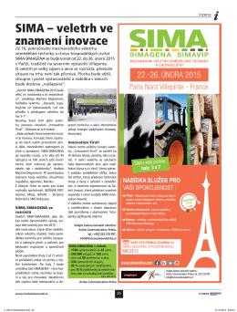 SIMA – veletrh ve znamení inovace