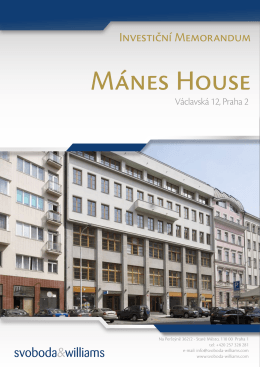 Mánes House - Svoboda & Williams
