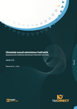 Uživatelský manuál administrace FastCentrik