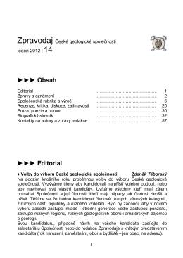 Zpravodaj České geologické společnosti č.14