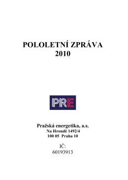 POLOLETNÍ ZPRÁVA 2010