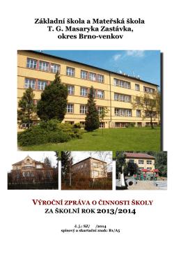 výroční zpráva školy 2013/2014 - Základní škola a Mateřská škola
