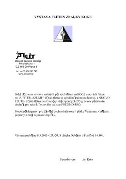 Výstava fléten značky Koge Dobřany 9.3.2013 pdf
