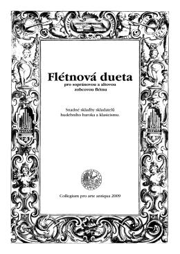 Flétnová dueta - Collegium pro arte antiqua