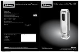 Čistička vzduchu Fellowes AeraMax Baby DB5 - Chytry
