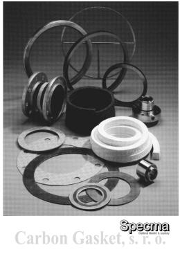 CG katalog - CARBON GASKET, sro