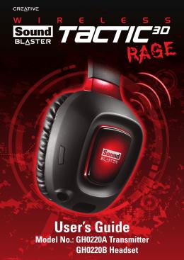 Jak používat sluchátka Sound Blaster Tactic3D Rage