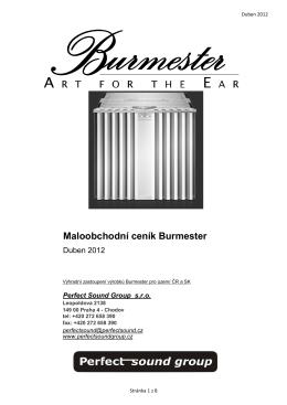 Maloobchodní ceník Burmester