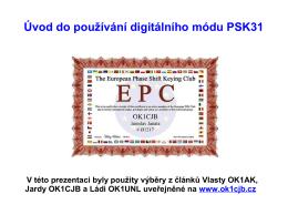 Úvod do používání digitálního módu PSK31