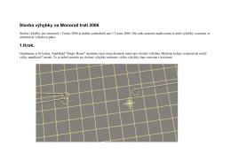 Stavba výhybky na Monorail trati 2006