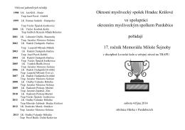 Okresní myslivecký spolek Hradec Králové ve spolupráci okresním
