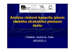 Analýza růstové kapacity jalovic českého strakatého plemene skotu