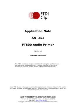 AN_252 FT800 Audio Primer