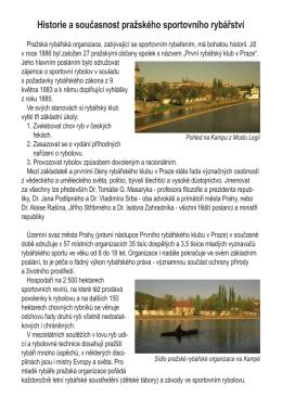 Historie a současnost pražského sportovního rybářství