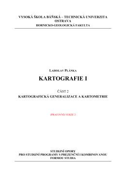 Kartografie I.2 - IGDM - Vysoká škola báňská