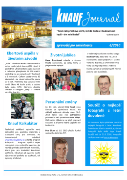 Knauf Journal - červen 2010