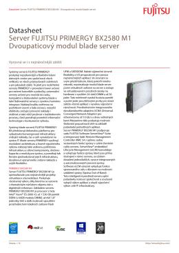 Datasheet Server FUJITSU PRIMERGY BX2580 M1 Dvoupaticový