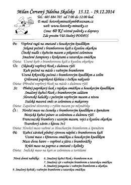 Milan Červený Jídelna Skalsko 15.12.