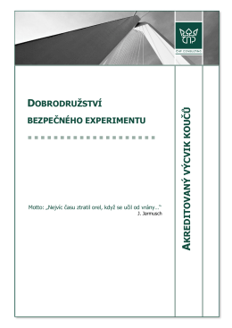 výcvik koučů - Česká asociace koučů