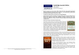 Propagační leták k Oxford Journals