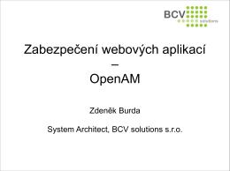 Zabezpečení webových aplikací – OpenAM