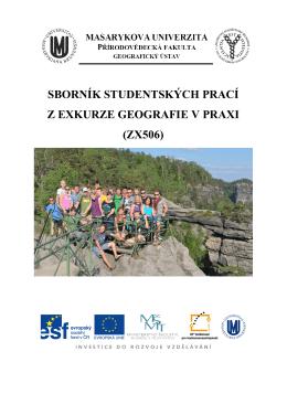 sborník studentských prací z exkurze geografie v praxi