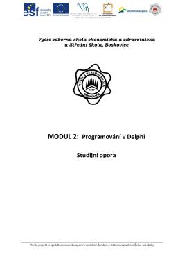 programování v Delphi - Vyšší odborná škola ekonomická a