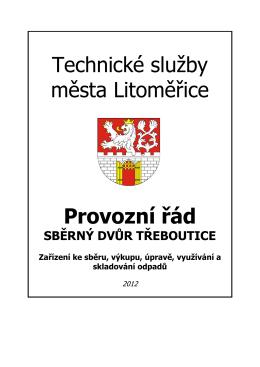 sběrného dvora - Technické služby města Litoměřice, příspěvková