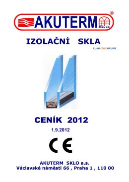 (ceník 2012) - AKUTERM sklo a.s.
