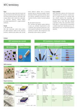 NTC termistory
