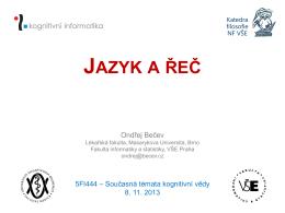 JAZYK A ŘEČ - Ondřej Bečev