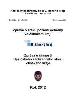 Roční zpráva o stavu PO_HZS ZLK_2012