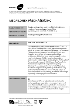 Analýza a interpretace textů v kvalitativním výzkumu